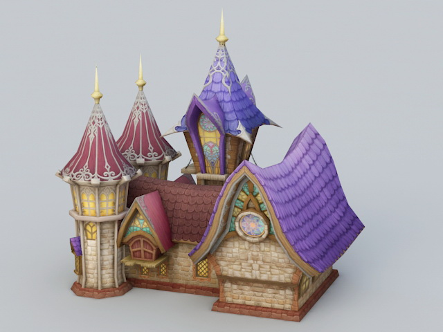 Cartoon Church Building 3d rendering