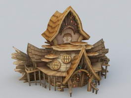 Wood Elf House 3d preview