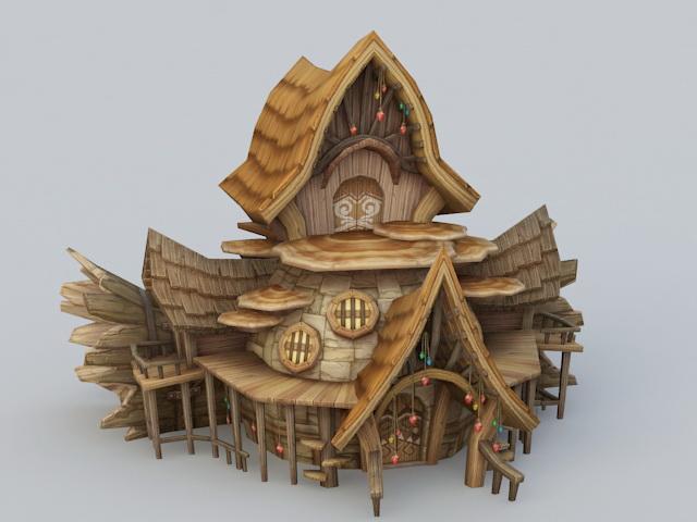 Wood Elf House 3d rendering