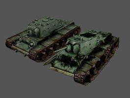 Destroyed KV-1 Tank 3d preview