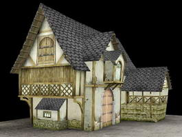 Medieval Town House 3d preview