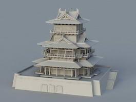 Traditional Chinese Building 3d preview