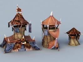 Orc Buildings 3d preview