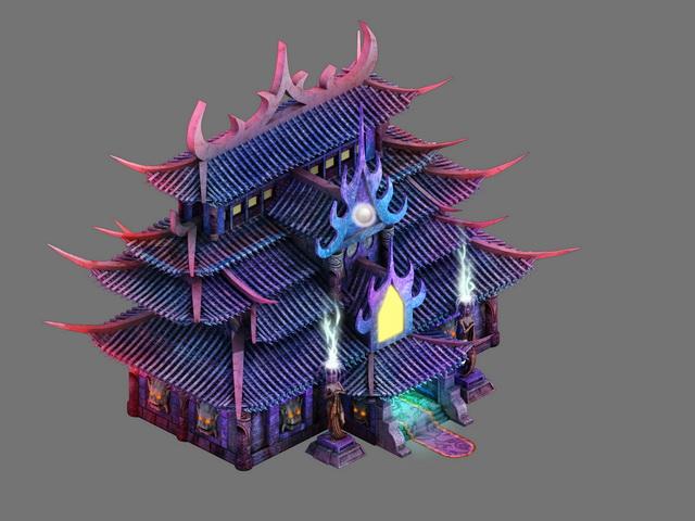 Devil Palace 3d rendering