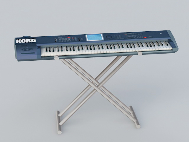 Korg Micro Keyboard 3d rendering