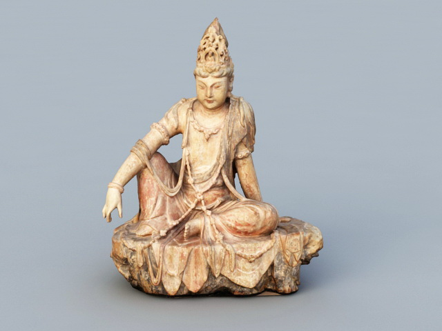 Ancient Indian Buddha 3d rendering