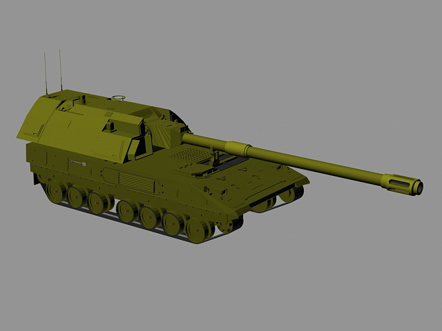 Self Propelled Artillery 3d rendering