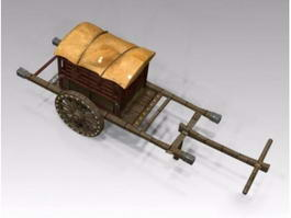 Ancient Chinese Carriage 3d preview