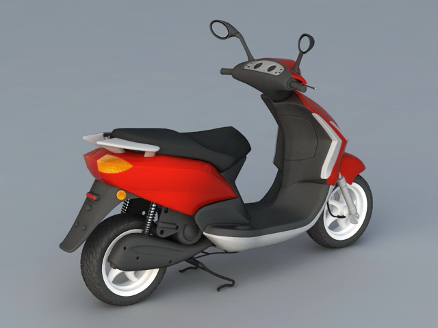 Electric Moped Scooter 3d rendering
