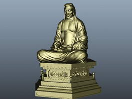 Bodhidharma Statue 3d preview