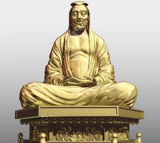 Bodhidharma Statue 3d rendering