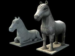 Ancient Horse Statue 3d preview