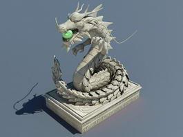 Magic Dragon Statue 3d preview