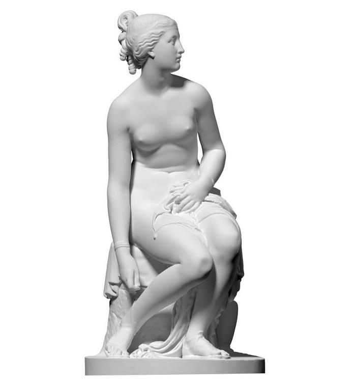 Greek Statue Water Nymph 3d rendering