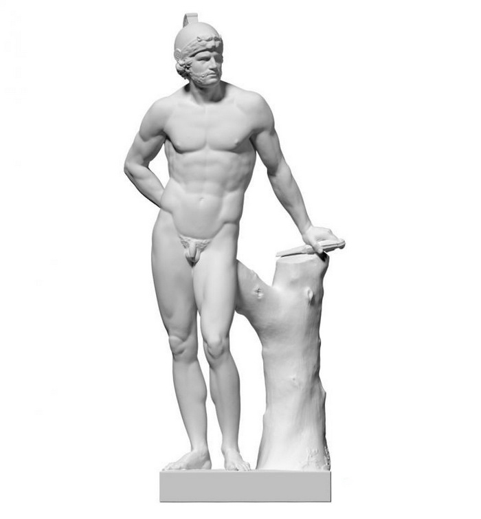 Mars God Statue 3d rendering