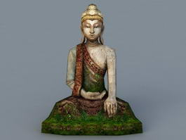 Ancient Buddha Statue 3d preview