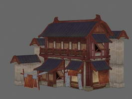 Ancient Chinese Shop 3d preview