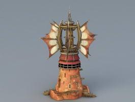 Cartoon Windmill 3d preview