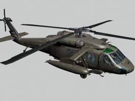 UH-60 Black Hawk Helicopter 3d preview