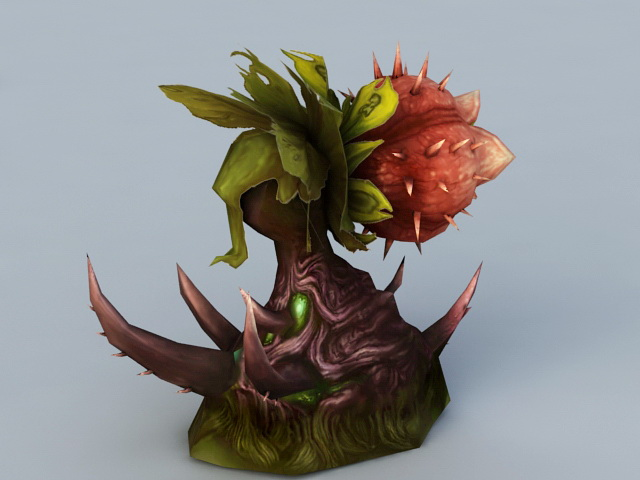 Meat-Eating Flower 3d rendering
