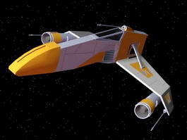 Star Wars E-Wing Fighter 3d preview