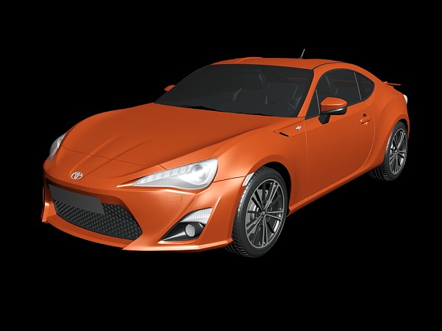 2013 Toyota GT 86 3d rendering