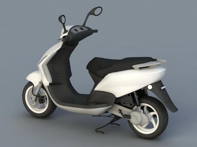 Moped Motorcycle 3d rendering