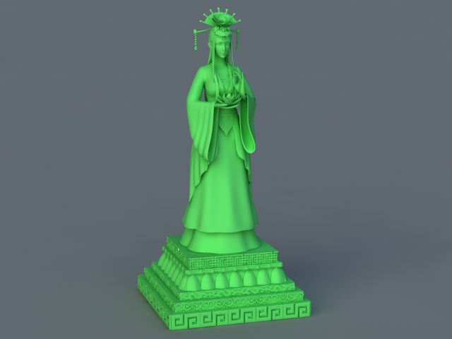 Chinese Fairy Statue 3d rendering
