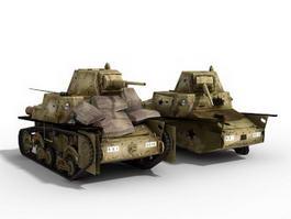 Italian L6 40 Light Tank 3d preview