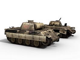 Panther tank 3d preview