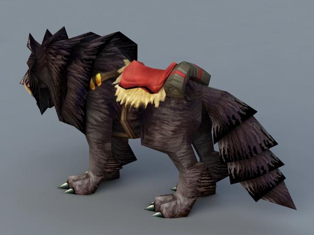 Black Wolf 3d rendering