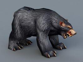 Black Bear 3d model preview