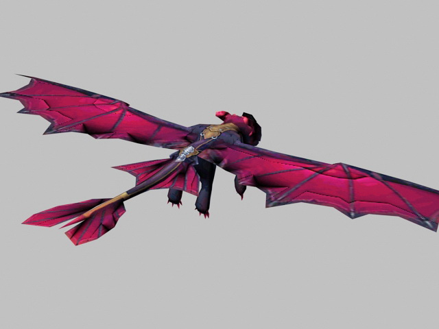 Tiny Red Dragon 3d rendering
