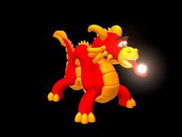 Cute Cartoon Chinese Dragon 3d preview