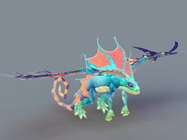 Butterfly Dragon 3d preview