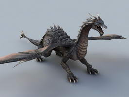 Black Dragon 3d model preview