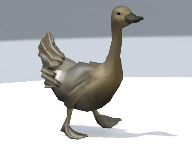 Duck Walking 3d rendering