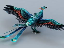 Blue Peacock Phoenix 3d preview