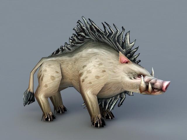 Wild Boar 3d rendering
