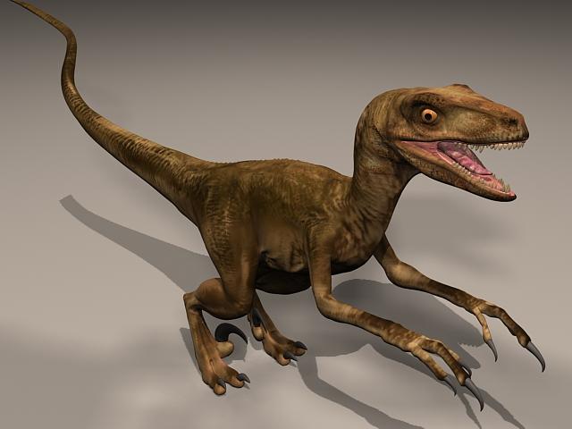 Velocisaurus Dinosaur 3d rendering