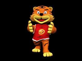 Cute Cartoon Tiger 3d model preview