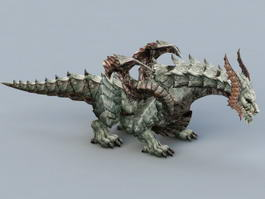 Cool Dragon Monster 3d model preview