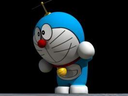 Robotic Cat Doraemon Rig 3d model preview