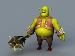 Shrek Character 3d preview