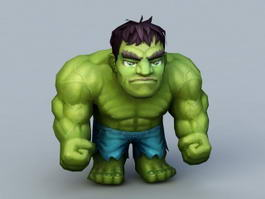 Cartoon Chibi Hulk 3d preview