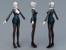Beautiful Secretary 3d preview