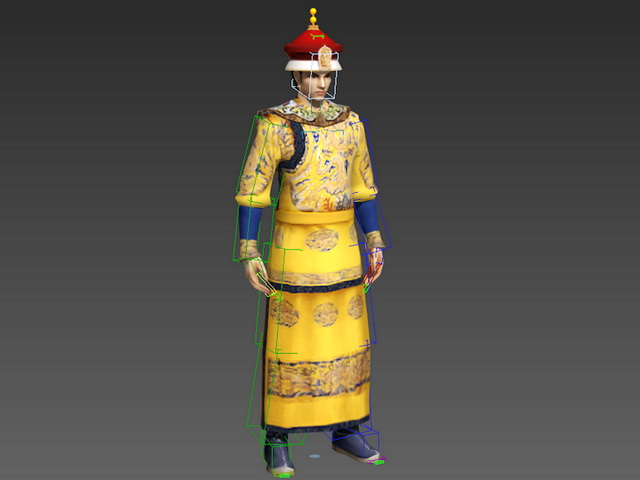 Chinese Emperor Rig 3d rendering