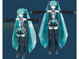 Hatsune Miku 3d preview