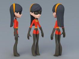 Violet Parr Character 3d preview