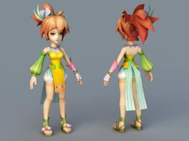 Cute Fairy Girl 3d preview